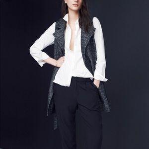 Madewell long cozy plaid vest